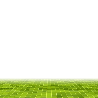 추상 밝은 녹색 사각형 픽셀 타일 모자이크 벽 배경 및 질감.