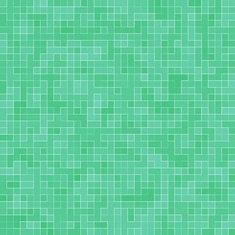 抽象的な明るい緑の正方形のピクセルタイルモザイク壁の背景とテクスチャ。
