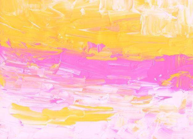 Абстрактный ярко-розовый, желтый и белый фон