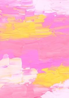 Абстрактный ярко-розовый, желтый и белый текстурированный фон