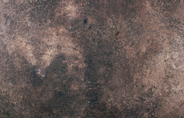Abstract brown chocolate metallic background texture concrete or plaster hand made wall