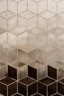 Abstract brown cubic patterned