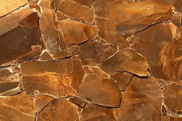 Abstract brown floor with various shapes background