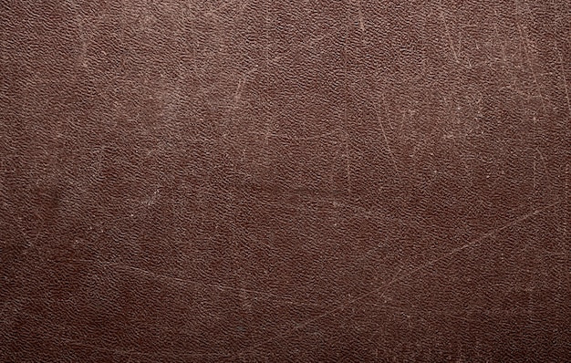 Abstract brown leather texture background