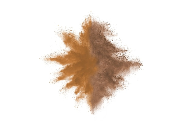 抽象的な茶色の粉の爆発