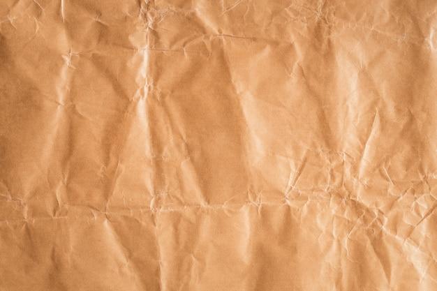 배경, 디자인에 대 한 갈색 종이 질감의 주름에 대 한 추상 갈색 재활용 구겨진 종이