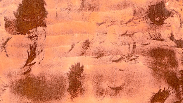 ペイントと錆の背景の抽象的なブラシ