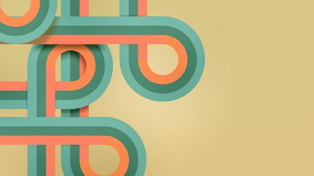 Абстрактный деловой фон с плавными полукругами и петлями