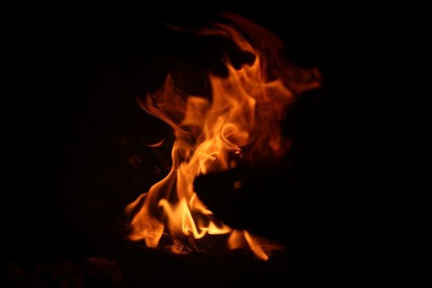 Abstract campfire background