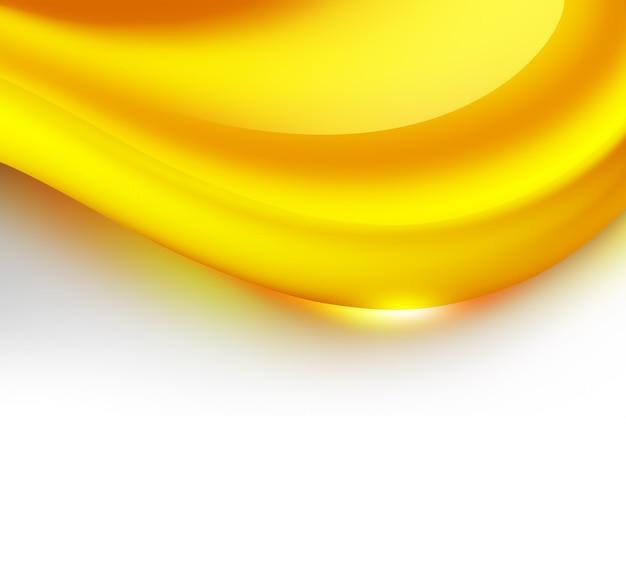 白い背景の上の抽象的なキャラメル波