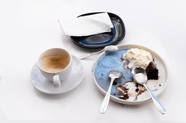 Abstract chocolate ice cream