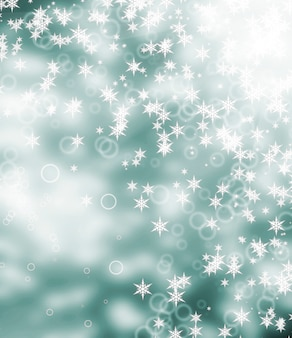 Abstract christmas background. focus on the snowflake