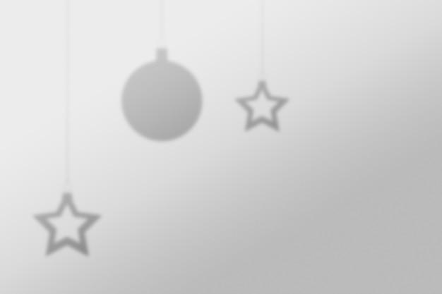 추상 크리스마스 공 배경 벽 그림자 빛 개념