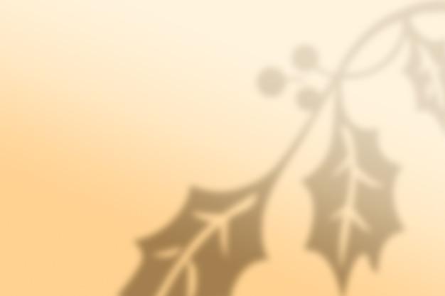 추상 크리스마스 나뭇잎 그림자 배경
