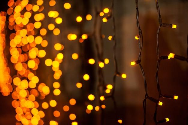 Abstract christmas lights on  with bokeh