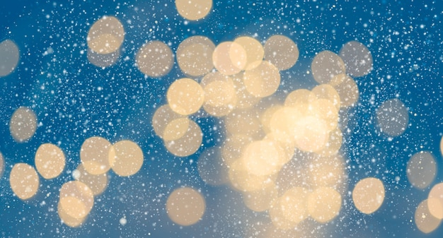 Abstract christmas and new year blurred bokeh background