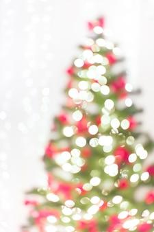 추상 크리스마스 트리 배경 defocused 화환 조명