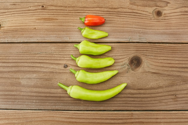 Abstract christmas tree made out of pepper