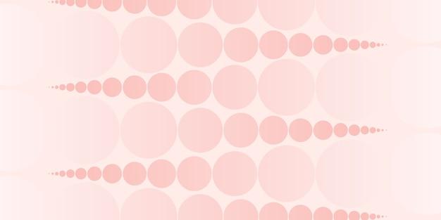 Abstract circle and polka dot pattern pastel color 3d illustration