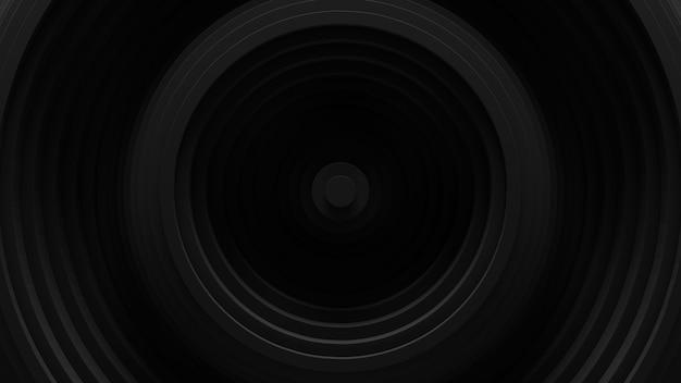 Fondo circolare astratto di oscillazione delle persiane. . superficie ondulata degli anelli 3d. spostamento degli elementi geometrici.