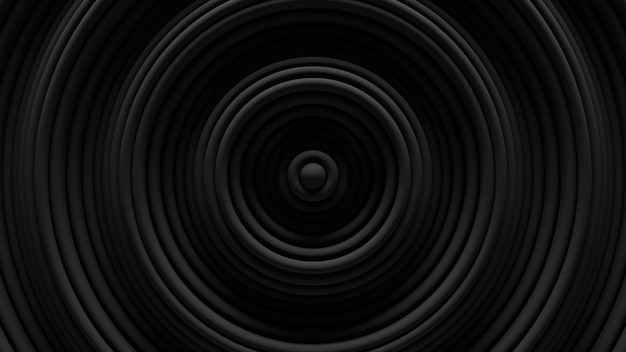 Abstract circular blinds oscillation background. . 3d rings wavy surface. geometric elements displacement.