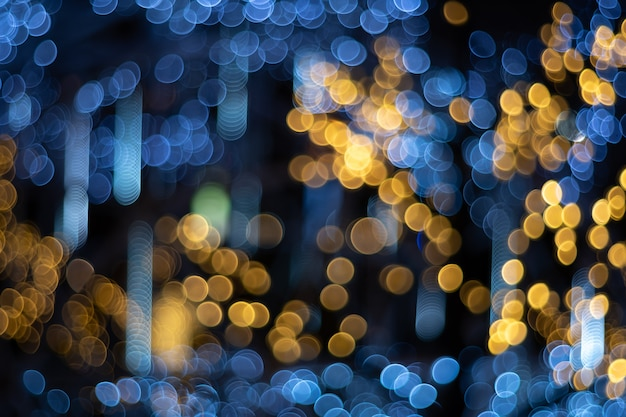 Abstract circular bokeh of light blurred