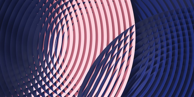 Abstract circular colorful subtle geometric pattern. 3d rendering illustration.