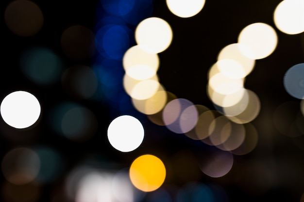 Abstract circular lights blurred bokeh holiday background