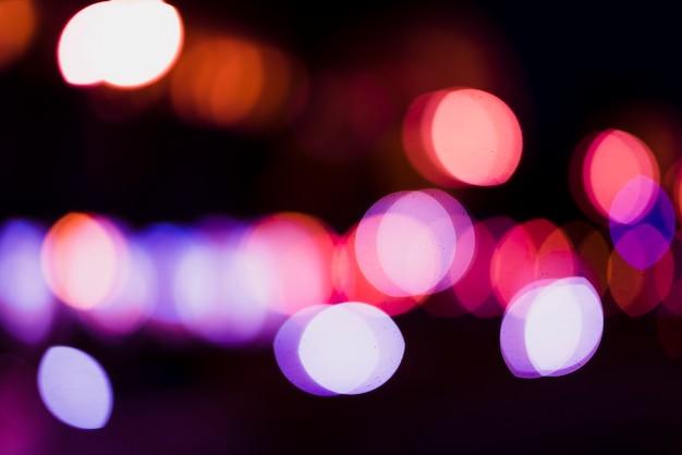 Абстрактный круговой фон неоновых огней