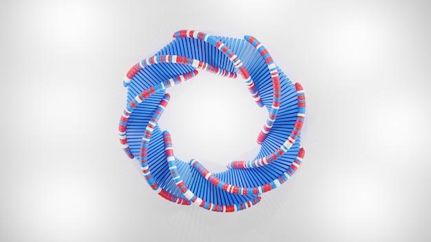 Абстрактная днк круглой формы, изолированные на белом фоне