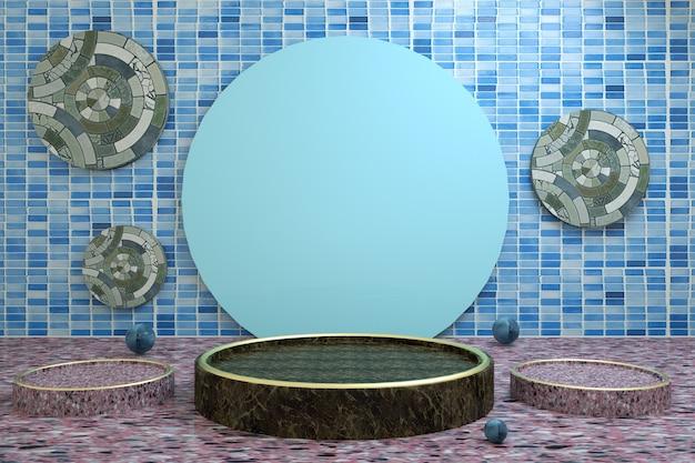 製品スタンド用の抽象的な円形の表彰台