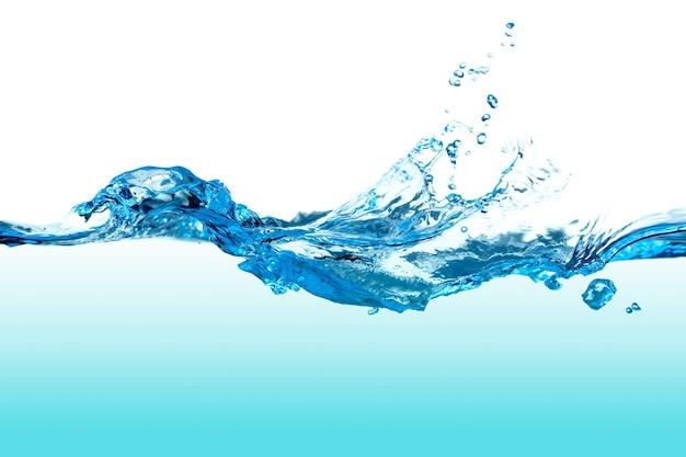 거품과 추상 맑고 푸른 물 시작입니다.