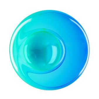 抽象的な透明なガラスビーズのグラデーションの色分離の背景。