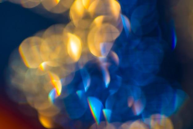 抽象的な色の背景。ぼやけた光ボケ。