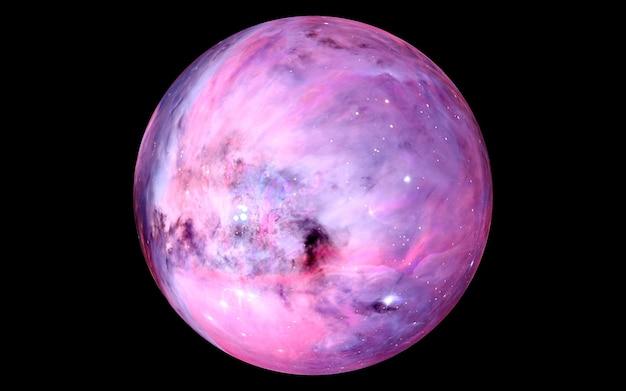 Абстрактная цветная размытая планета в космосе, другие миры, фантастическая планета в другой галактике