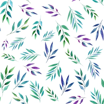 Абстрактные цветные ветви, бесшовные модели. акварельный стиль.