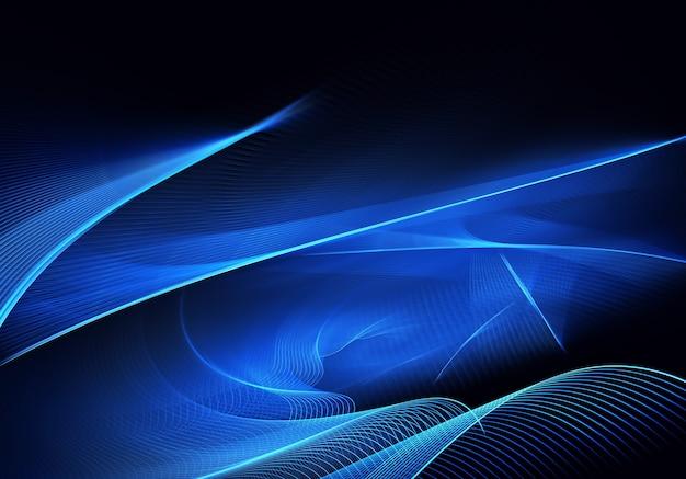 조명 효과와 추상 색상 동적 배경입니다. 프랙탈 물결. 프랙탈 아트