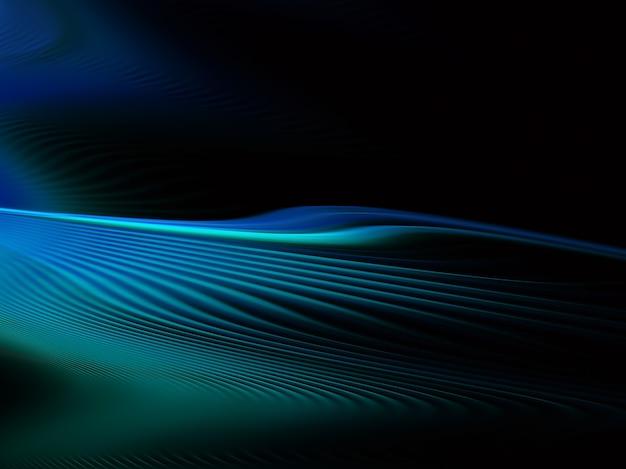照明効果のある抽象的な色のダイナミックな背景。フラクタル波状。フラクタルアート