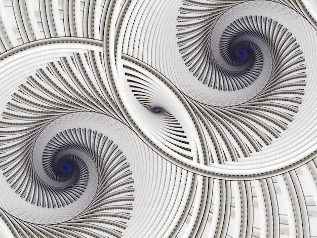 照明効果のある抽象的な色のダイナミックなテクスチャ背景。フラクタルスパイラル。フラクタルアート