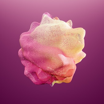 Abstract color explosion. 3d illustration, 3d rendering.