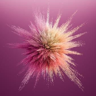 Абстрактный цветной взрыв. 3d иллюстрации, 3d-рендеринг.