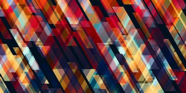 黒の背景の3dイラストと対照的な抽象的な色の線
