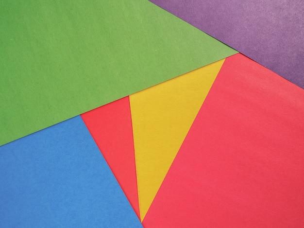 抽象的な色紙とカラフルな紙の背景。