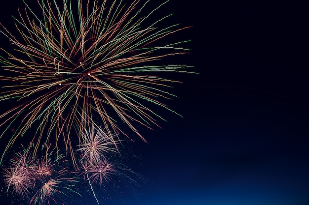 Abstract colored firework background
