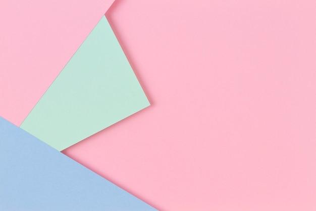 추상적 인 색종이 질감 배경 파스텔 핑크 빛 bl의 최소한의 기하학적 모양과 선...