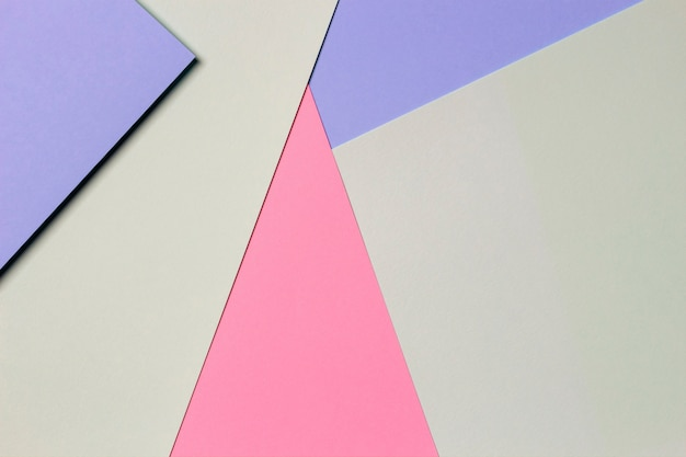 Abstract colored paper texture wall. minimal geometric shapes and lines in light blue, pastel pink, green colors