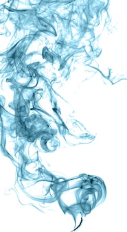 Abstract colored smoke on a light background