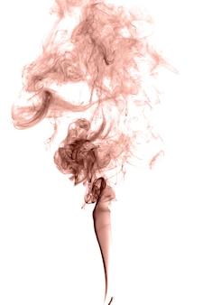 明るい背景に抽象的な色の煙