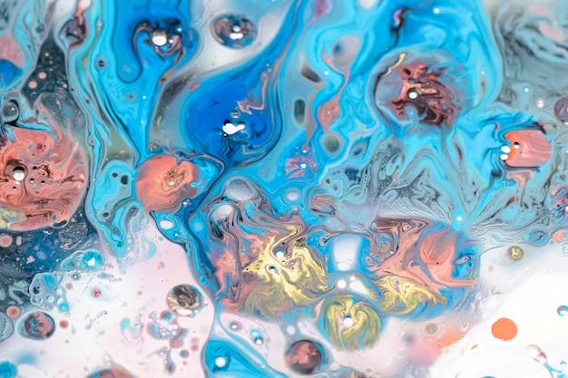 Абстрактная красочная акриловая смесь