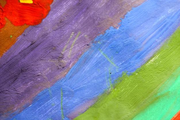 Абстрактный красочный фон, нарисованный синими красками и зеленым, ручной фон
